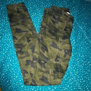 H&M army medium low rise stretchy jeans